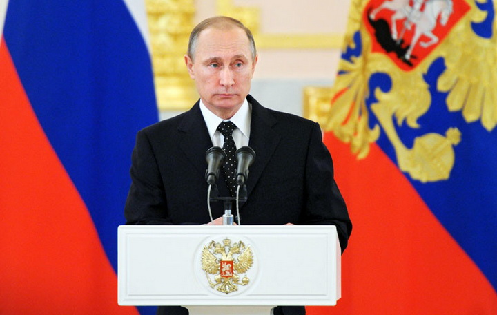 Russian President Vladimir Putin receives credentials from ambassadors of 15 countries
