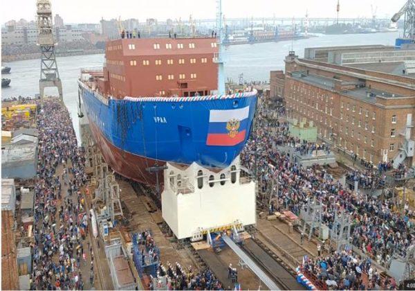 """РУСИ ПРЕЗЕНТОВАЛИ НАЈНОВИЈЕ ЧУДО ТЕХНИKЕ: """"УРАЛ"""" запловио ка Арктику (ВИДЕО)"""