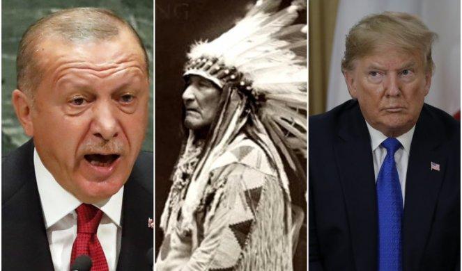 """БРУТАЛАН ОДГОВОР ЕРДОГАНА АМЕРИЦИ: """"А заборавили сте геноцид над Индијанцима?"""""""