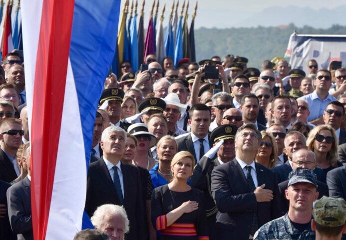 """POČELO OBELEŽAVANJE """"OLUJE"""" U HRVATSKOJ: Čuju se ustaški pokliči! NACISTIČKI FOLKLOR ZA NACISTIČKU PROSLAVU"""
