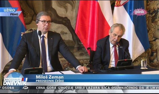 """ZEMAN SE OBRATIO VUČIĆU: """"Izvinjavam se Srbiji zbog NATO bombardovanja! OPROSTITE NAM!"""""""